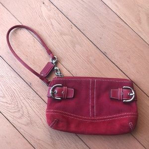 Coach wristlet, red